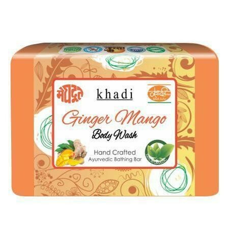 Meghdoot Khadi Ayurvedic Ginger Mango Body Wash 125g