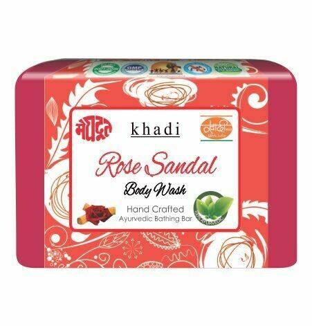 Meghdoot Khadi Ayurvedic Rose Sandal Body Wash 125g