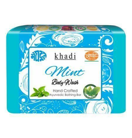 Meghdoot Khadi Ayurvedic Mint Body Wash 125g