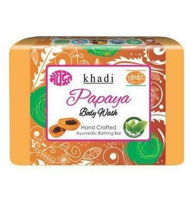 Meghdoot Khadi Ayurvedic Papaya Body Wash 125g