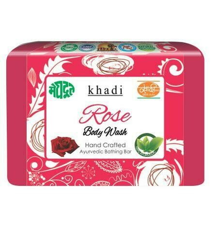 Meghdoot Khadi Ayurvedic Rose Body Wash 125g