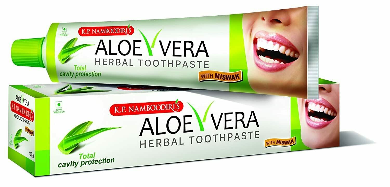 K.P. Namboodiri's Aloe Vera Herbal Tooth Paste 50g