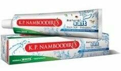 K.P. Namboodiri's Herbal White Natural Salt Rock Salt - Induppu Toothpaste 50g