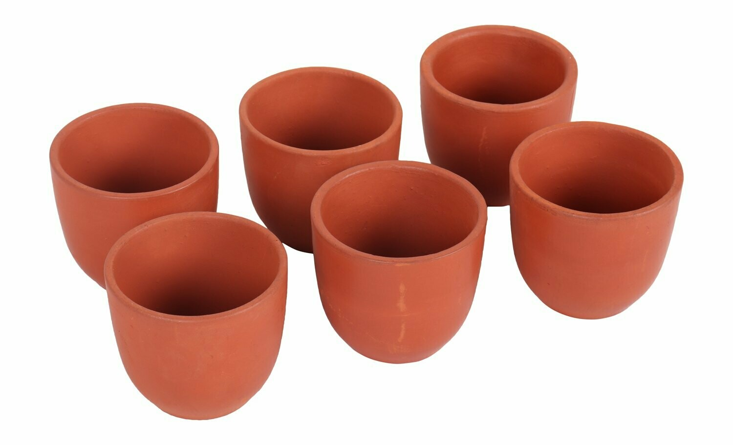 Mitticool Clay Cherry Cup Set 6 Pieces Brown 100ml