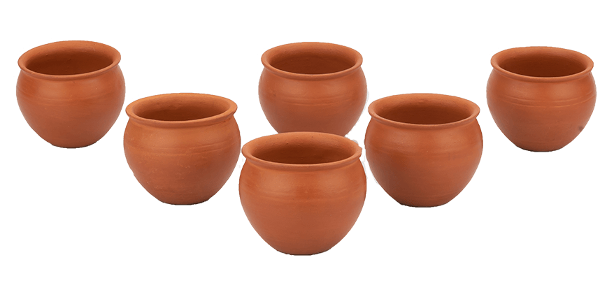 Mitti Cool Clay Jully Cup Set Set 6 Pieces Brown 200ml