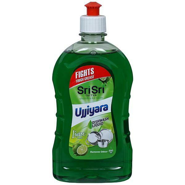 Sri Sri Tattva Ujjiyara Liquid Dishwash Lime 500ml