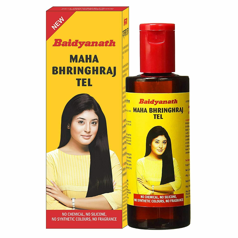 Baidyanath Mahabhringraj Tel - Ayurvedic Hair Oil, No Added Chemicals or Fragrance 200ml
