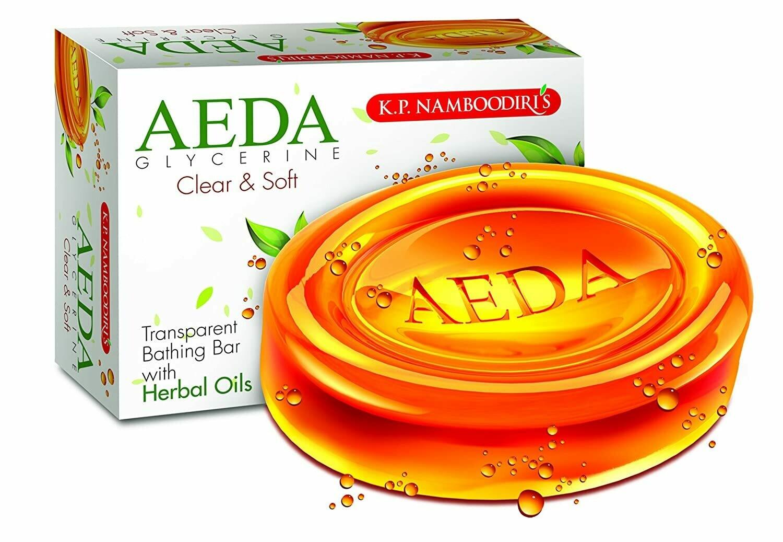 K.P. Namboodiri's Aeda Glycerine Soap - Clear & Soft 75g