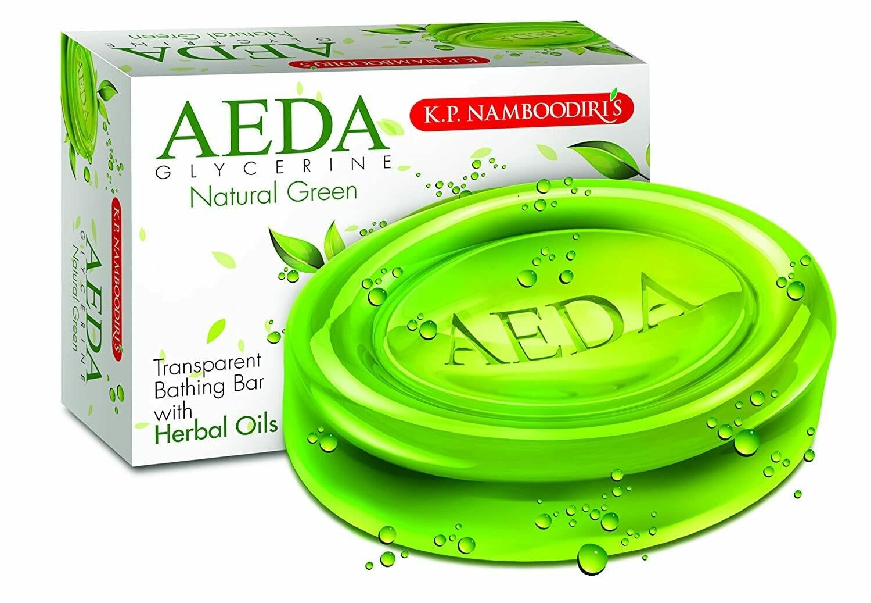 K.P. Namboodiri's Aeda Glycerine -Natural Green Soap 75g