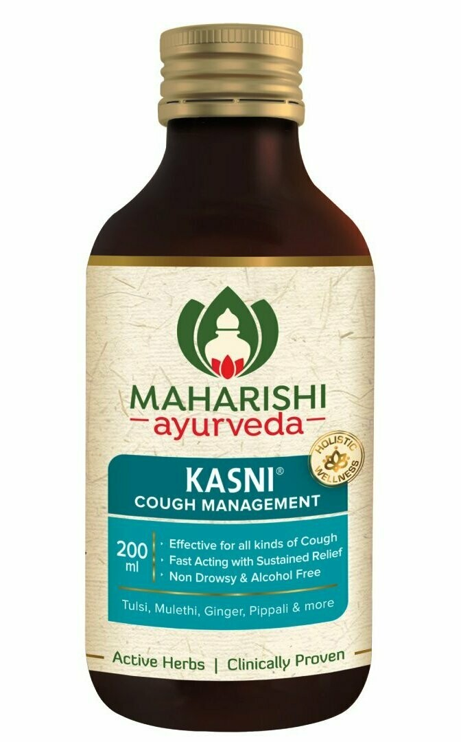 Maharishi Ayurveda Kasni Cough Syrup (Free Kanthsudha worth Rs 35) 100ml