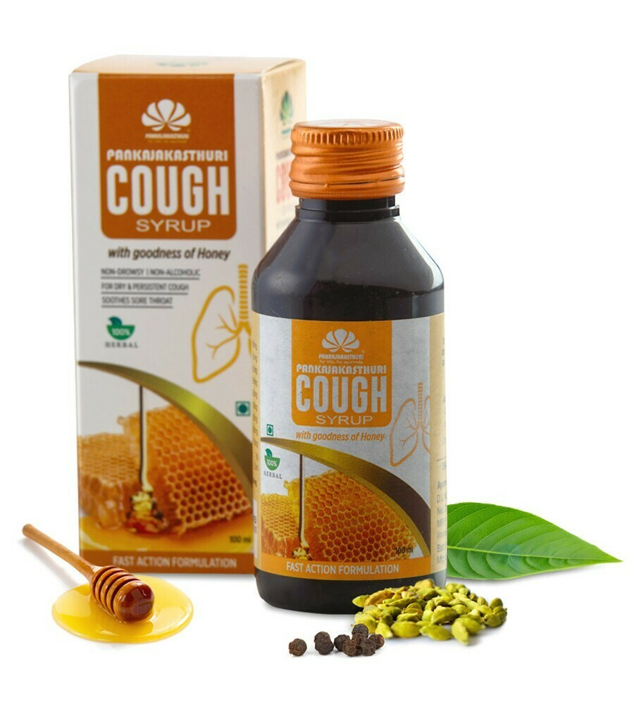 Pankajakasthuri Cough Syrup with Honey With goodness of Honey 100ml