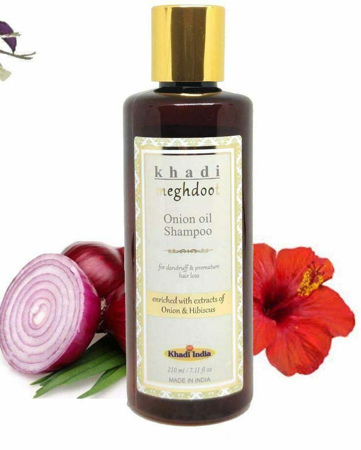 Khadi Meghdoot Onion Oil Shampoo 210ml for Dandruff & Premature Hair Loss