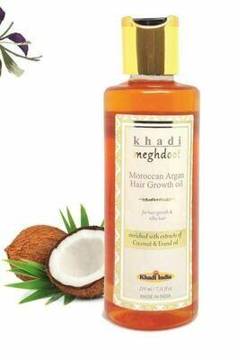 Khadi Meghdoot Moroccan Argan Hair Growth Oil 210ml for Hair Growth & Silky Hair