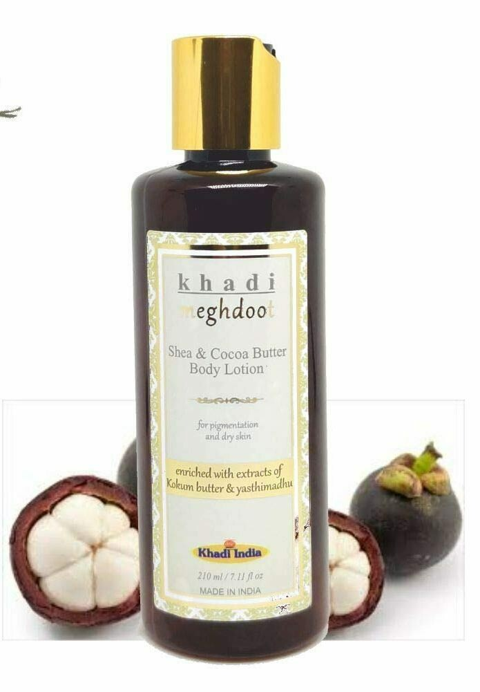 Khadi Meghdoot Shea & Cocoa Butter Body Lotion 210ml for Pigmentation and Dry Skin