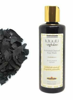 Khadi Meghdoot Activated Charcoal Face Wash 210ml For Acne, Pimples & Dark Spots