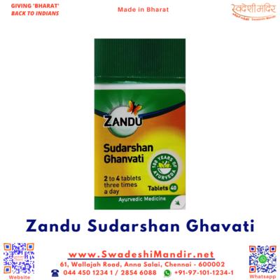 Zandu Sudarshan Ghanvati Tablets 40 Nos