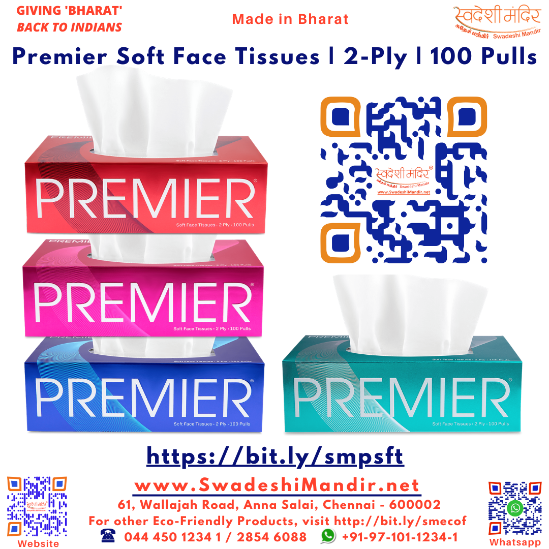 Premier Soft Face Tissues | 2-Ply | 100 Tissues / Pulls