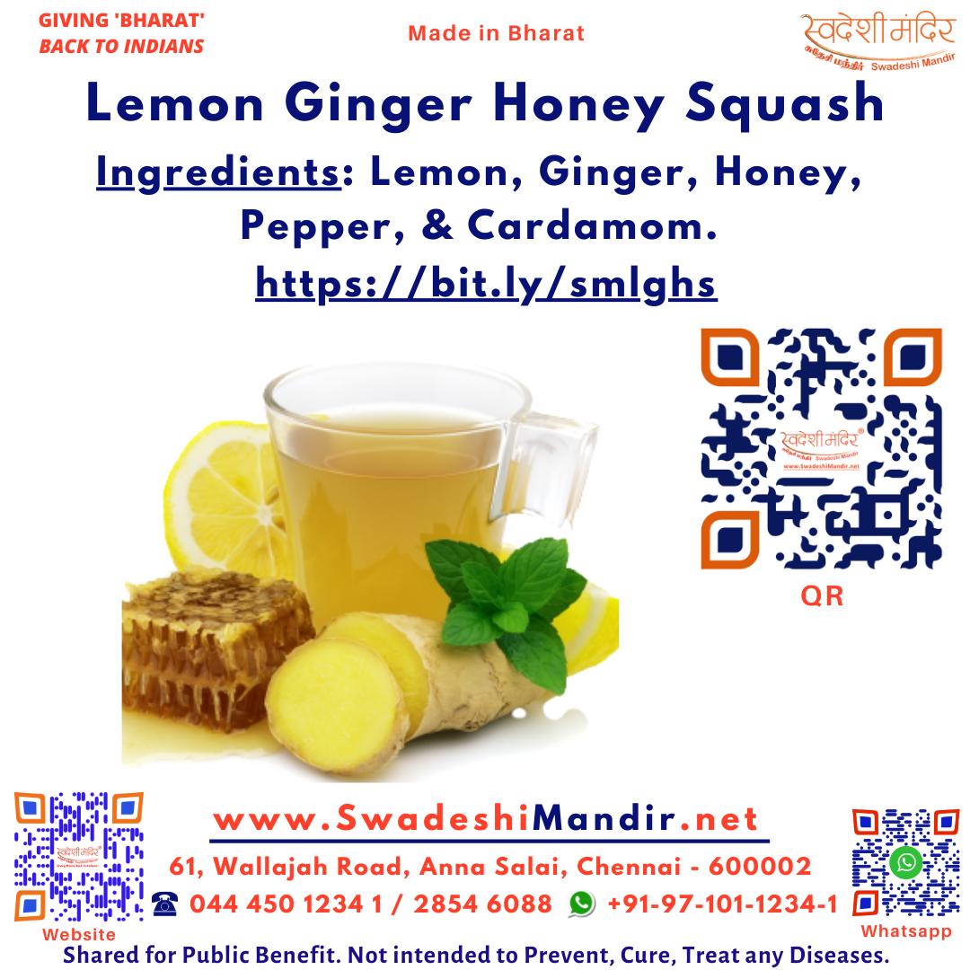 Lemon Ginger Honey Squash 700ml Tamil: எலுமிச்சை இஞ்சி தேன் சாறு Hindi: नींबू अदरक शहद शर्बत