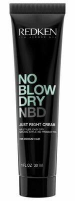 NBD. No Blow Dry Just Right Cream for Medium Hair, 1oz Travel