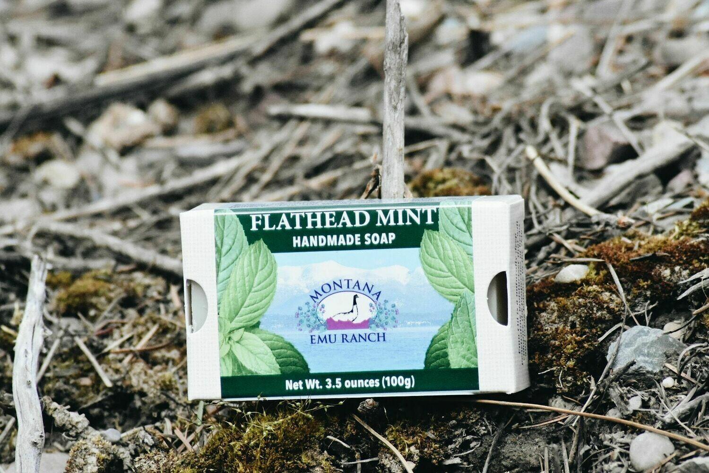 ANHS-FM Flathead Mint Soap w/ emu oil