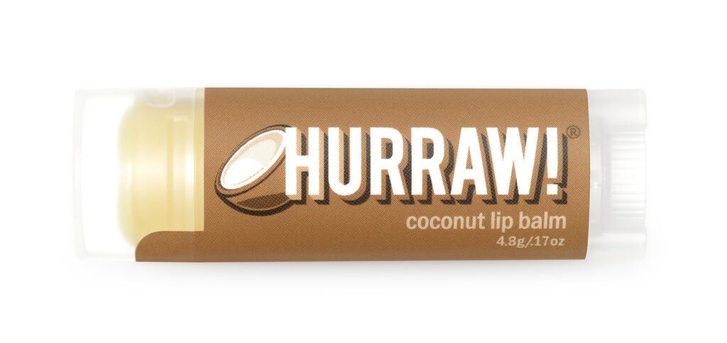 Coconut Lip Balm Hurraw $4