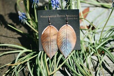 26-1-2 Handcrafted Copper Earrings $25