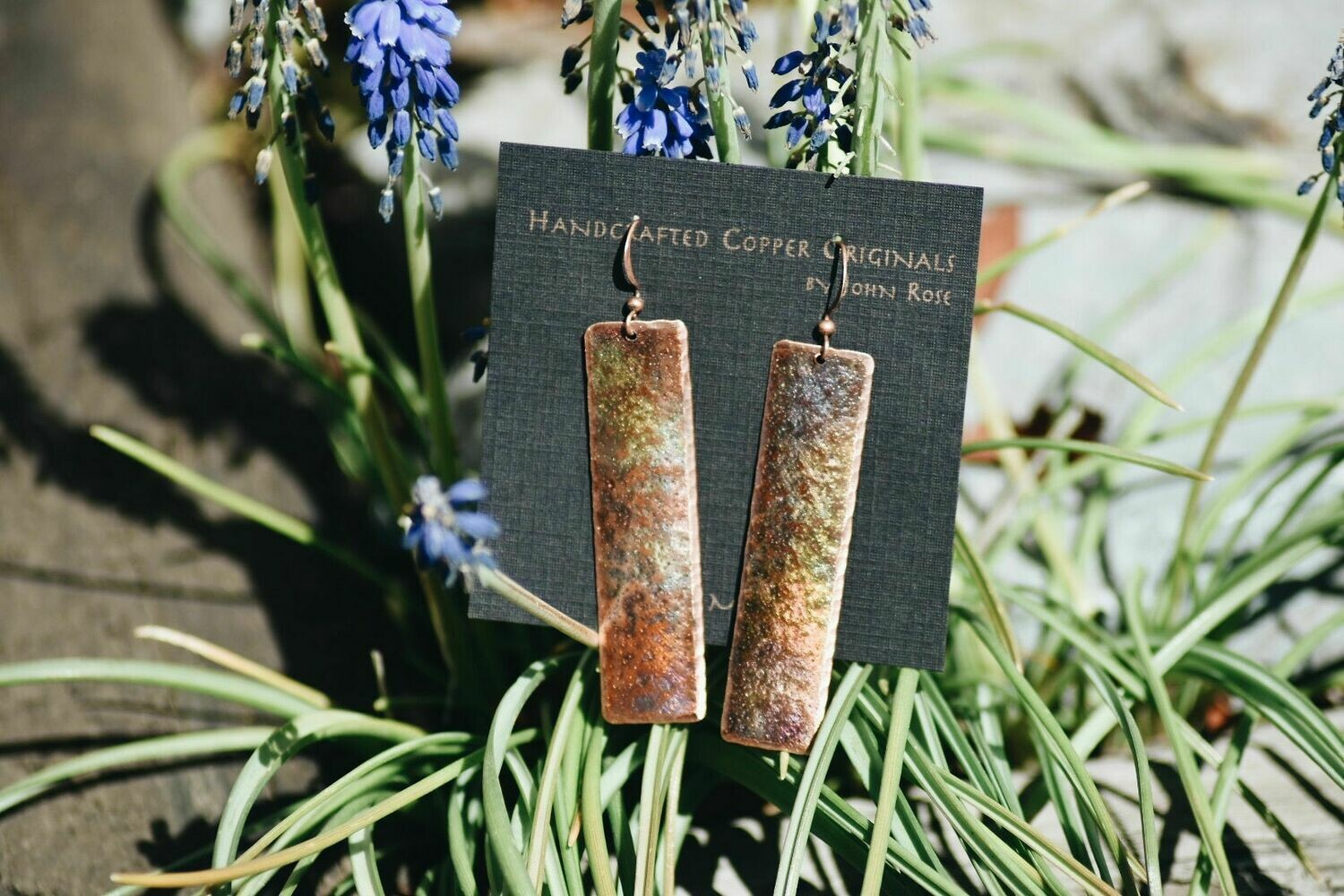 26-1-1 Handcrafted Copper Earrings $25