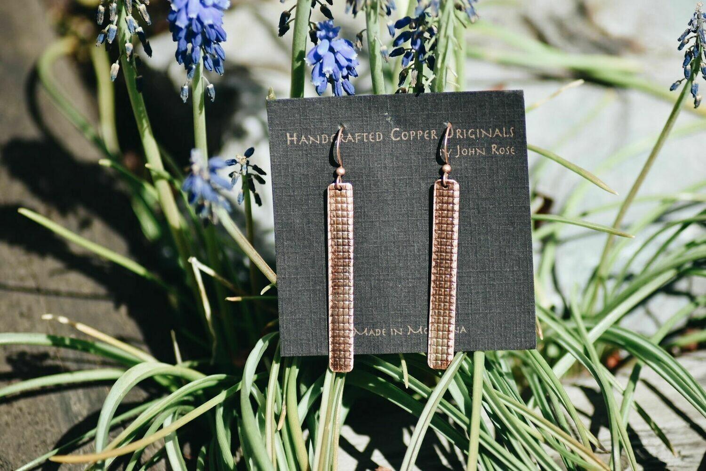 26-1-4 Handcrafted Copper Earrings $25