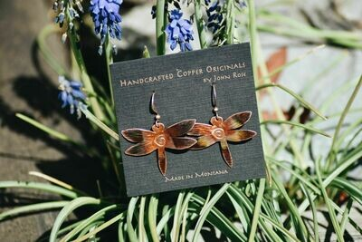 26-1-6 Handcrafted Copper Earrings $25