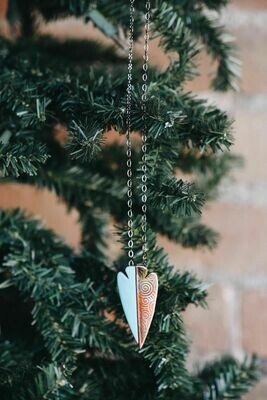 26-5-2 Copper w/ Enamel Arrowhead Necklace $32