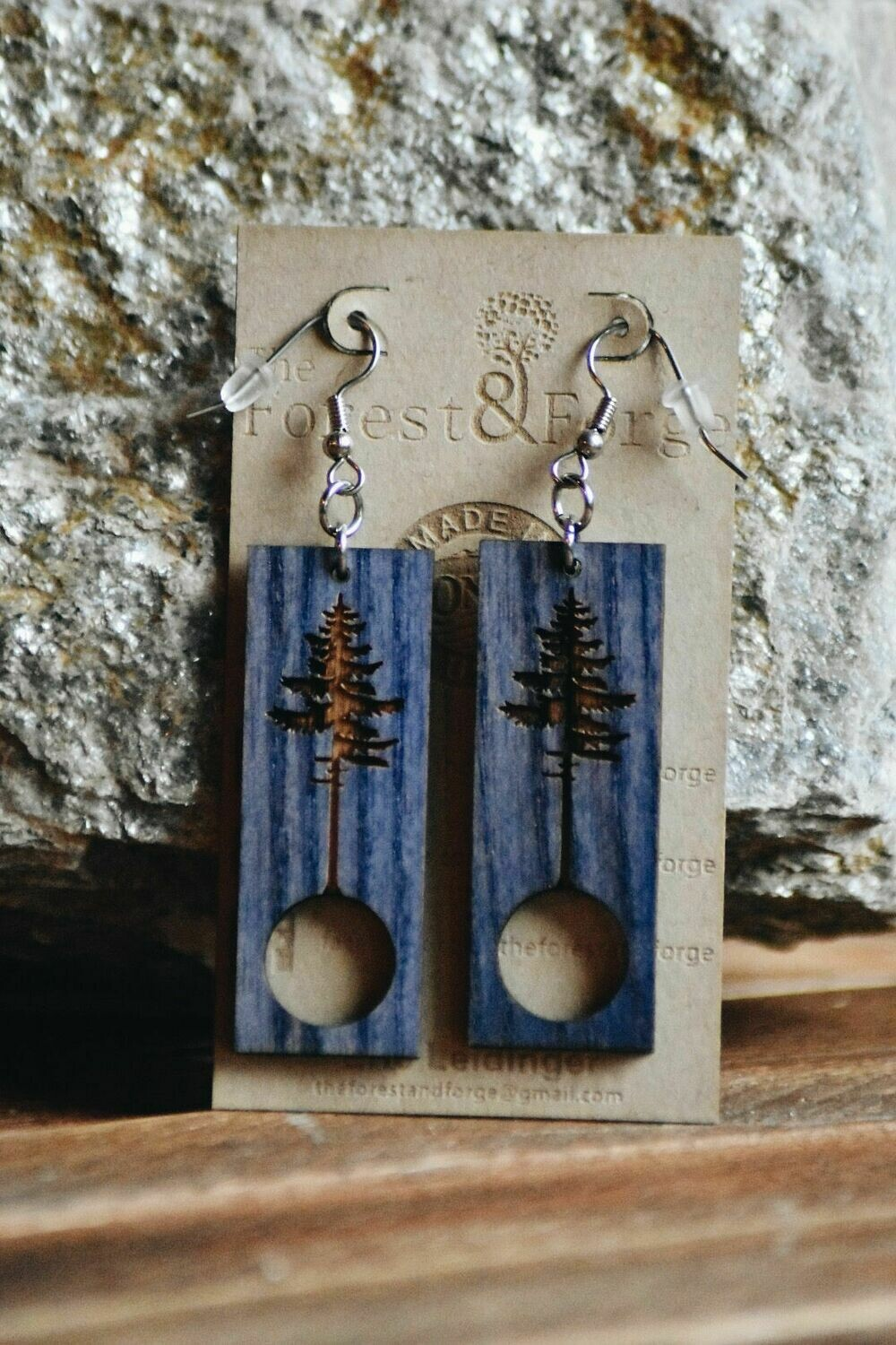 25-4 Stained Ash Wood Earrings $24
