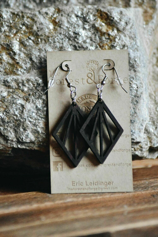 25-1 Stained Alder Wood Earrings $24