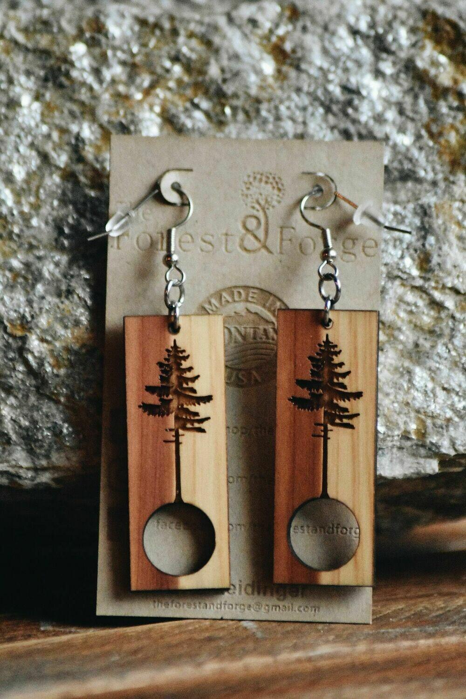 25-3 Red Cedar Wood Earrings $24