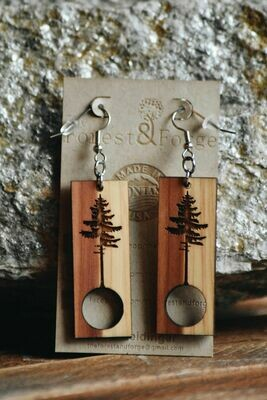 25-3 Red Cedar Wood Earrings $24