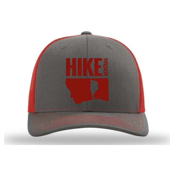 Hike MT - Trucker Hat - Charcoal/Red