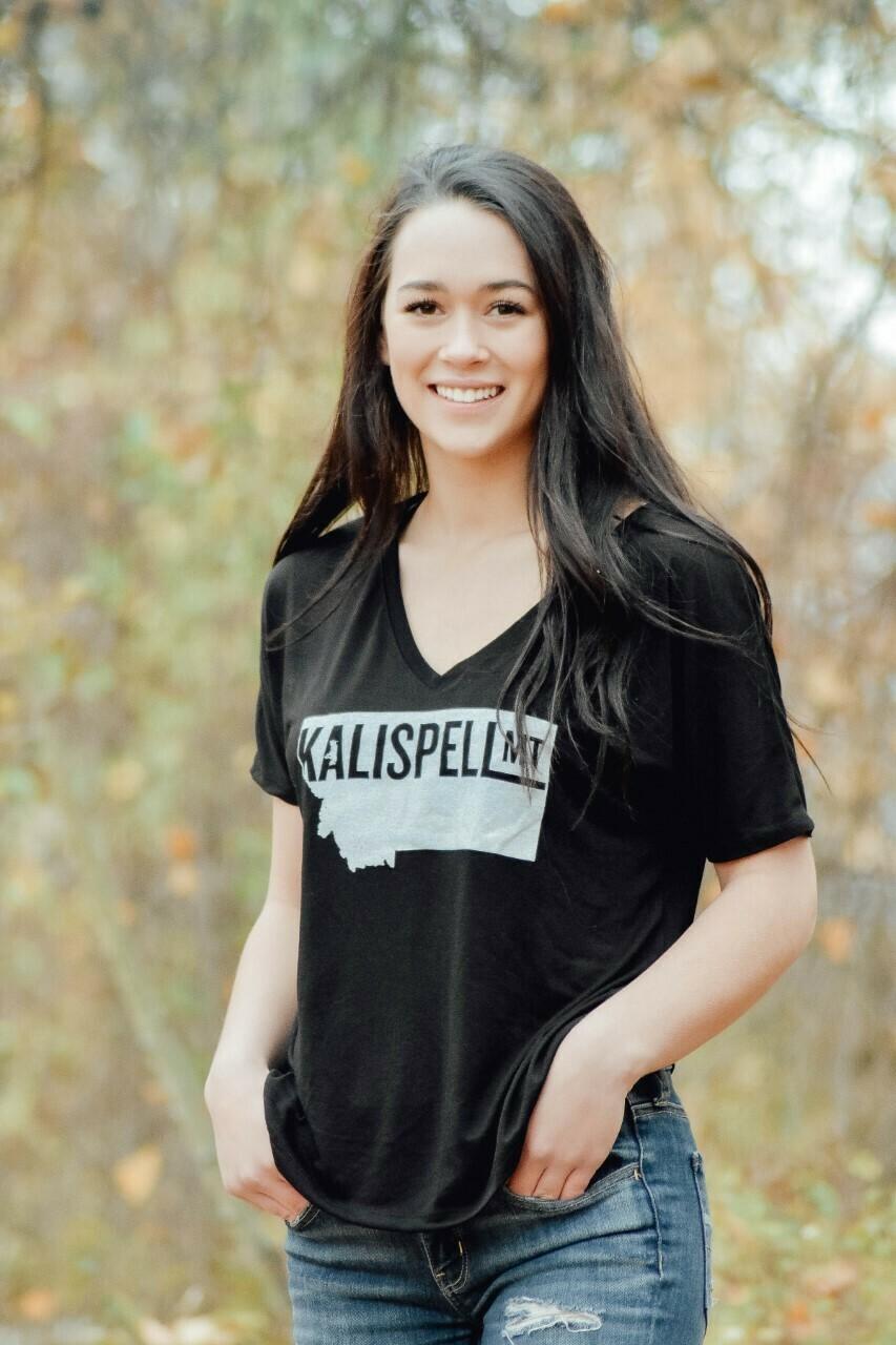 Kalispell Women's V-Neck Tee