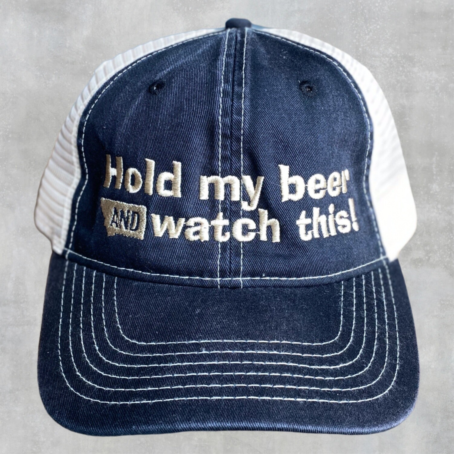 Hold My Beer Embroidered Snap Back Hat