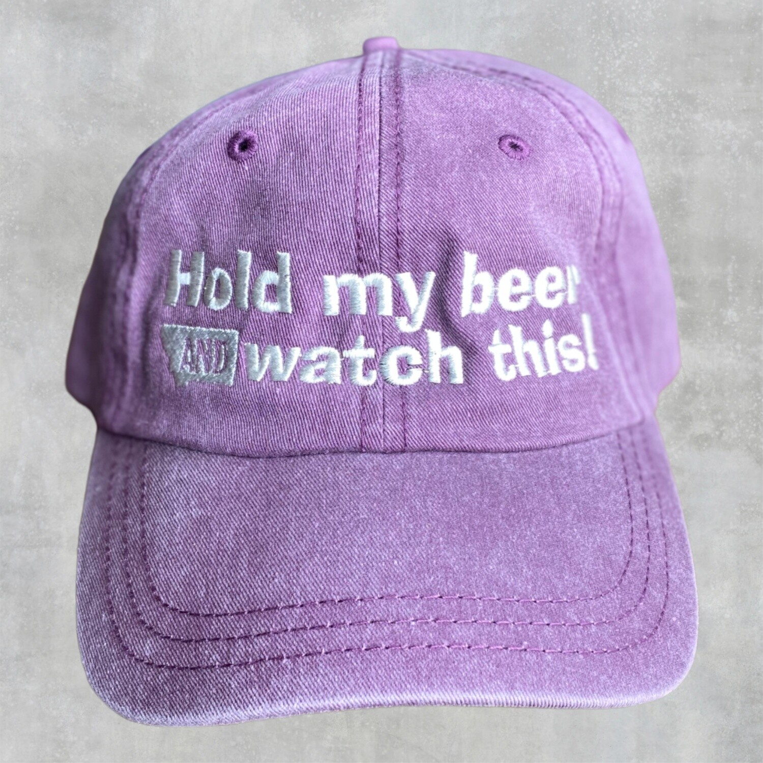 Hold My Beer Embroidered Sportsman Cap