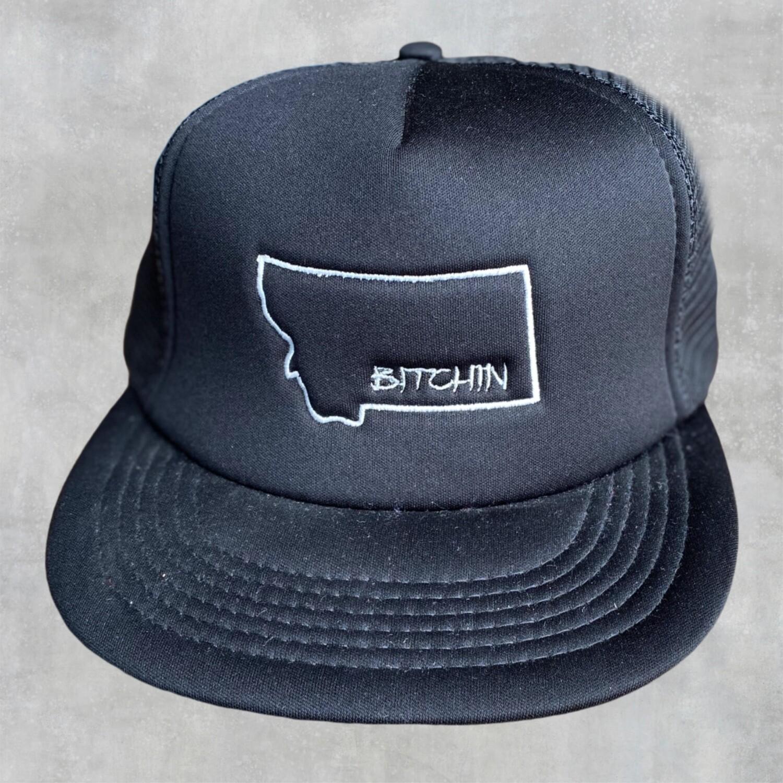 Bitchin Embroidered Flat Bill Hat