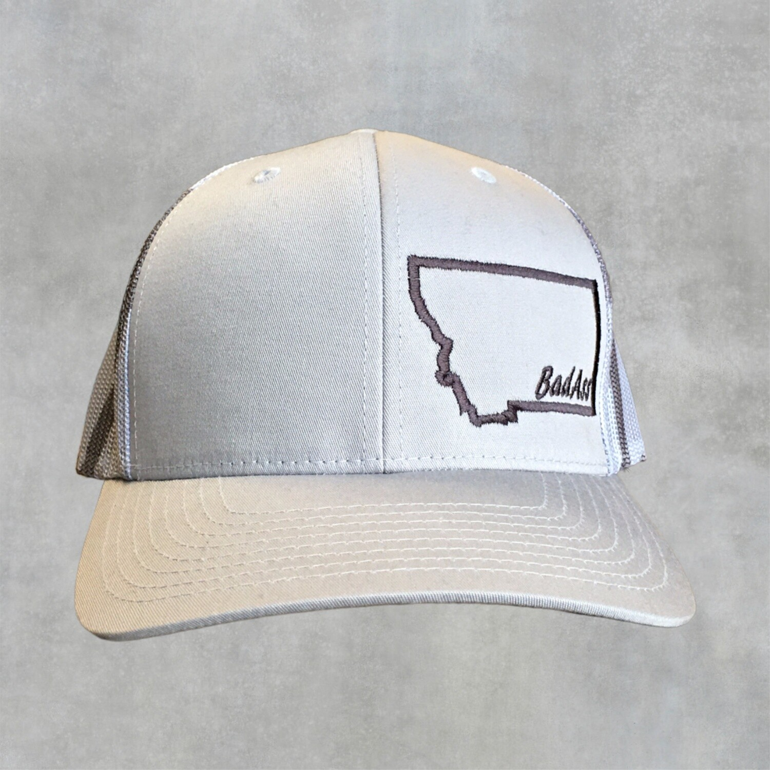 Bad Ass-Embroidered-Richardson Trucker Cap