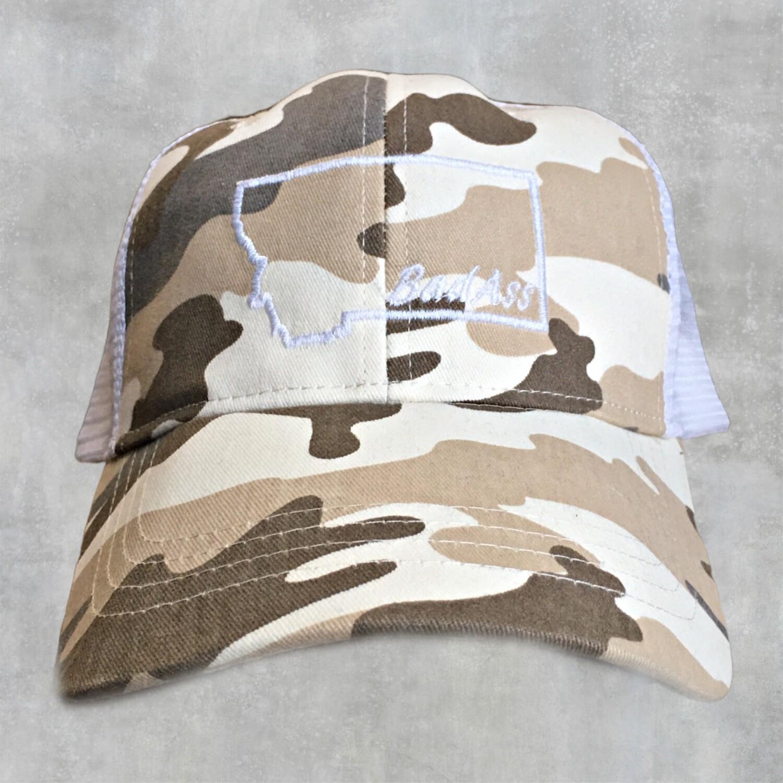 BadAss Embroidered Camo Hat