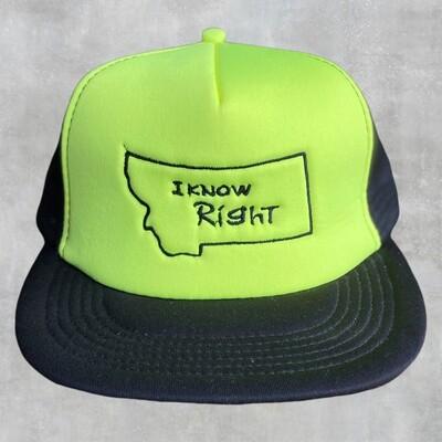I Know Right - Flat Bill Yellow/Black Cap