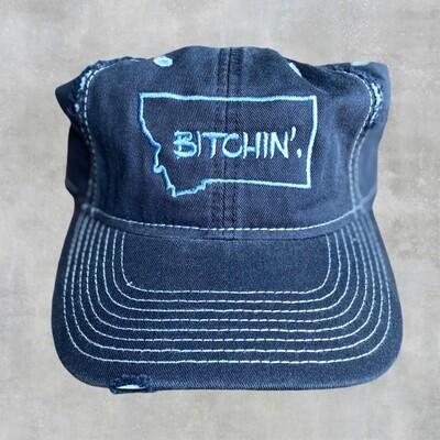 Bitchin - Navy Distressed Cap