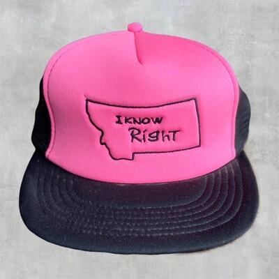 I Know Right - Flat Bill Hot Pink/Black