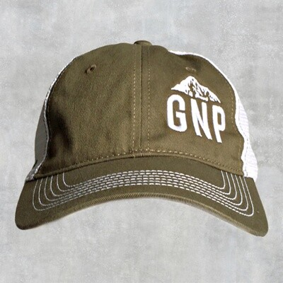 GNP Green/White Collapsible Hat