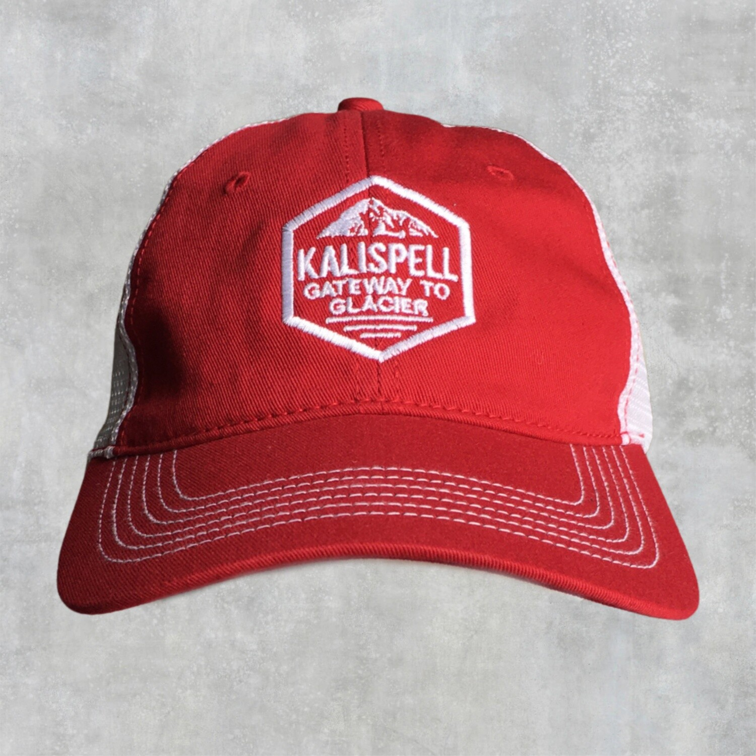 Kalispell Red/White Collapsible Hat