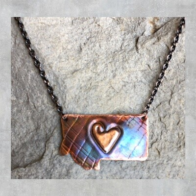 26-3-5 Copper Montana State w/ Heart in the middle $28