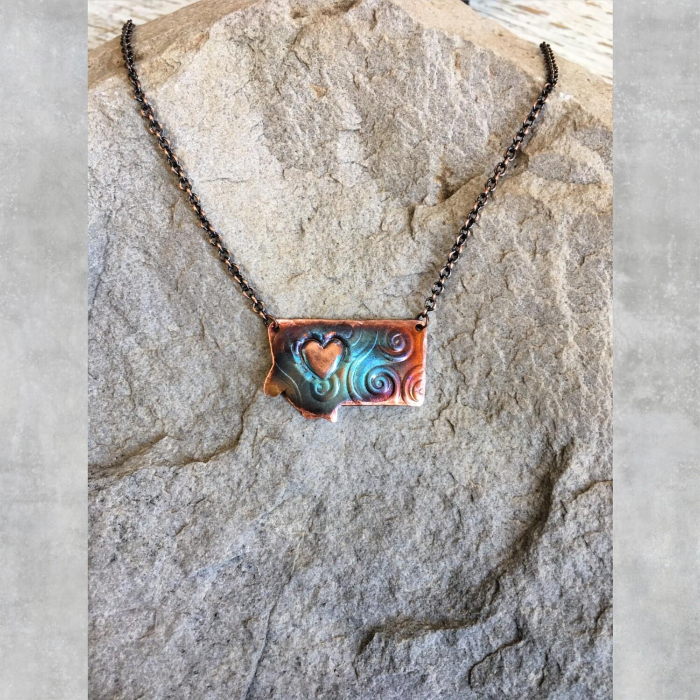 26-3-8 Copper Montana w/ Side Heart and Swirls $28