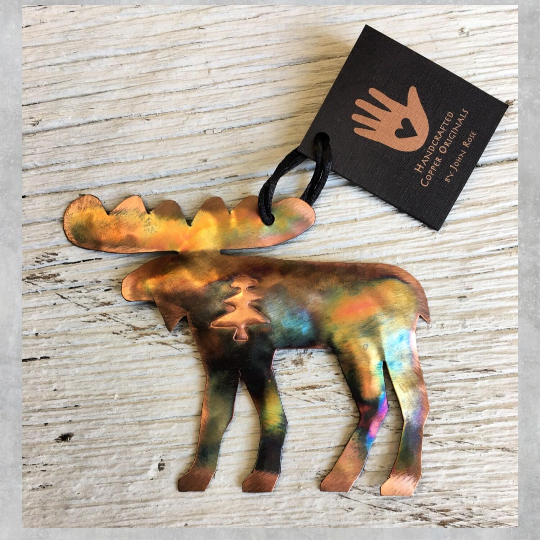 26-16-2 Moose w/ Tree Ornament $18.50
