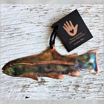 26-16-12 Copper Fish Ornament $18.50